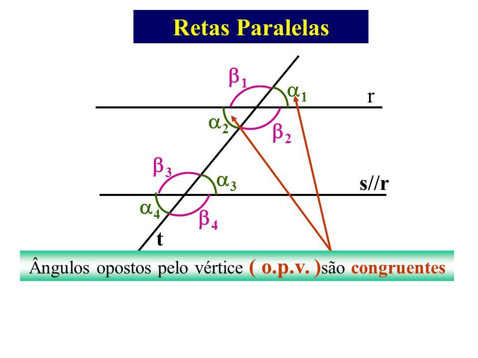 Ângulos opostos pelo vértice ( o.p.v. )são congruentes