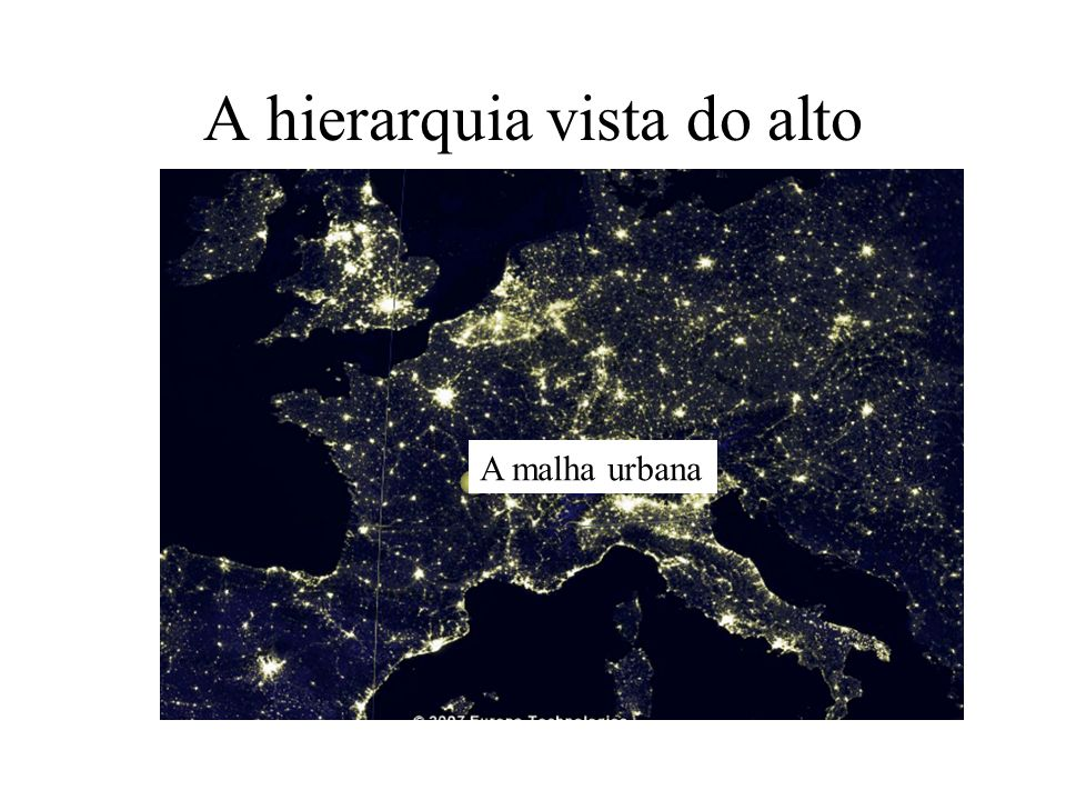 A hierarquia vista do alto