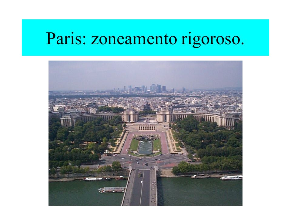 Paris: zoneamento rigoroso.