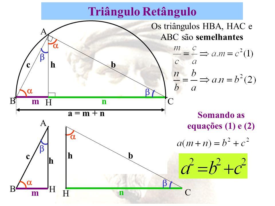 Somando as equações (1) e (2)