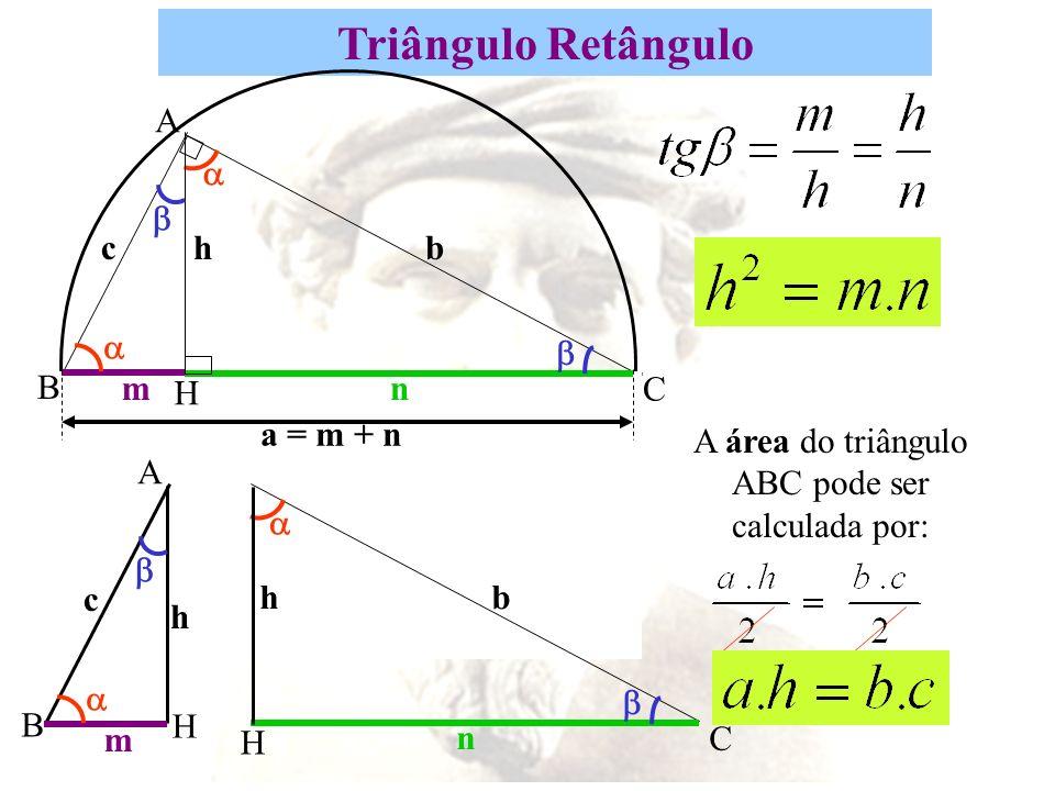 A área do triângulo ABC pode ser calculada por: