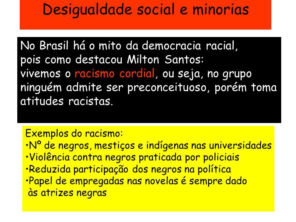 Desigualdade social e minorias