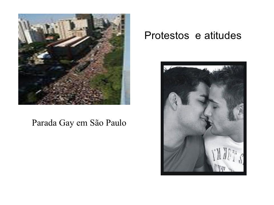 Protestos e atitudes Parada Gay em São Paulo