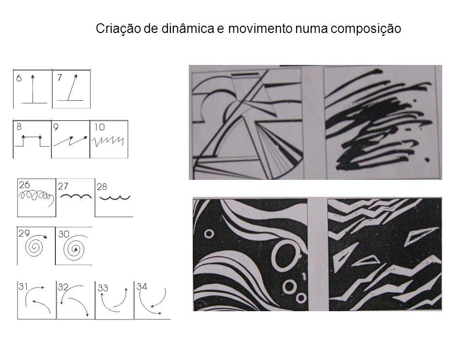 Criação de dinâmica e movimento numa composição