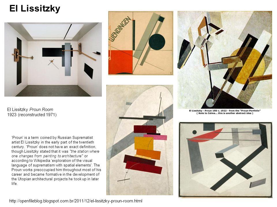 El Lissitzky El Lissitzky Proun Room 1923 (reconstructed 1971)