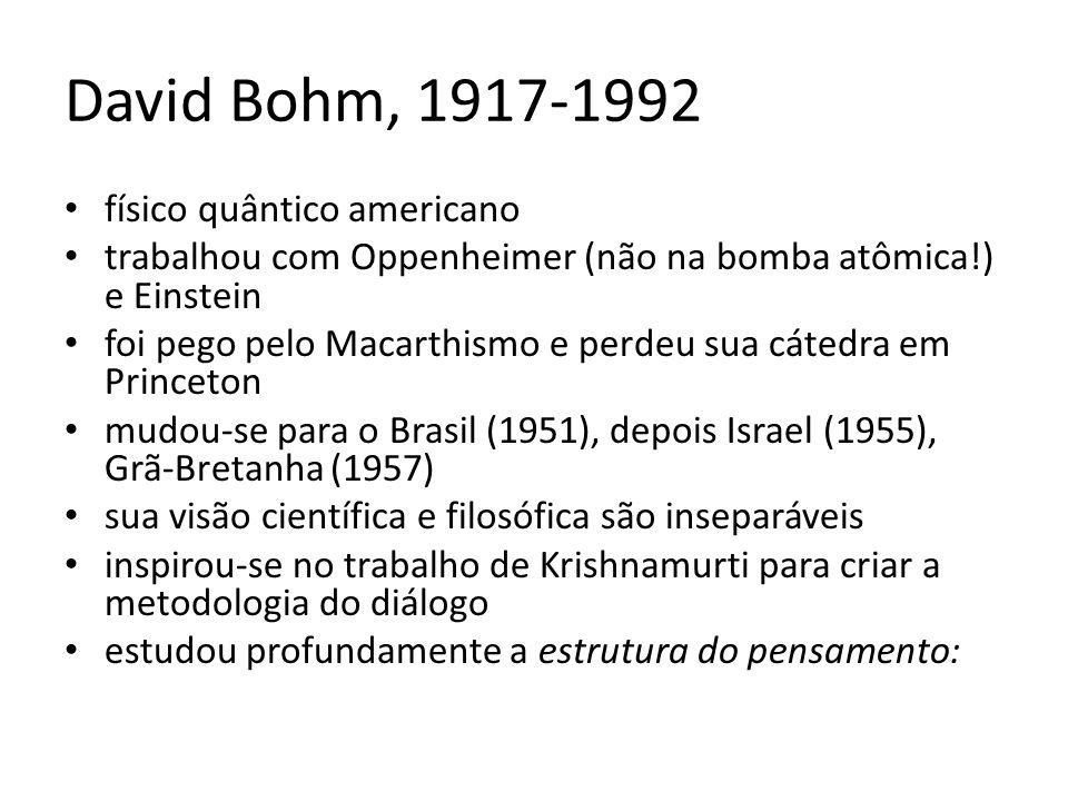 David Bohm, 1917-1992 físico quântico americano