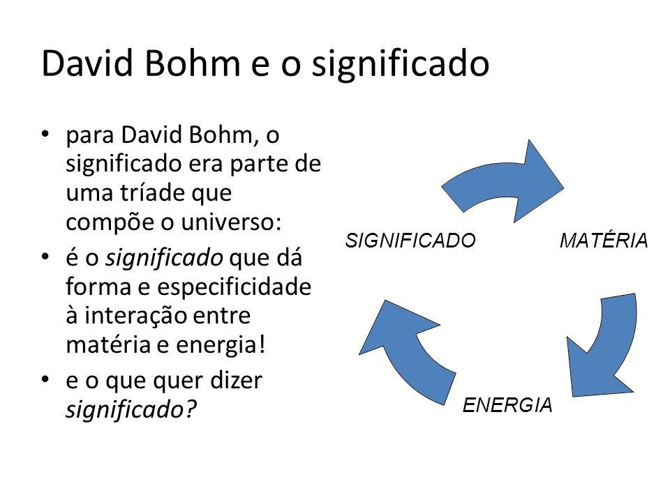 David Bohm e o significado
