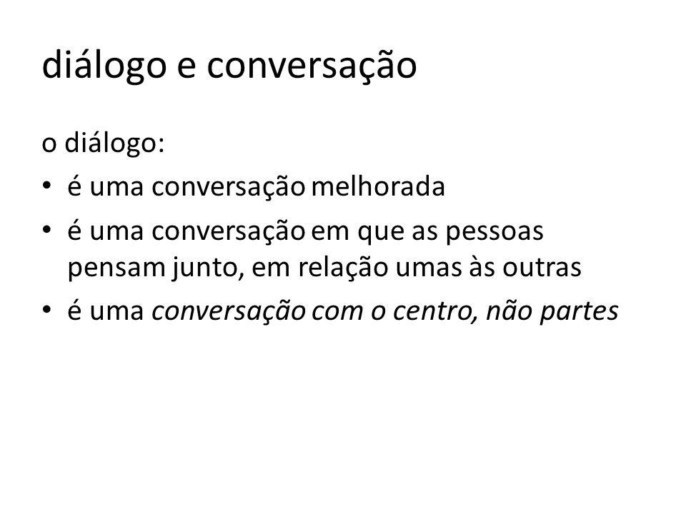 diálogo e conversação o diálogo: é uma conversação melhorada