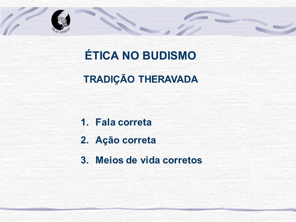 ÉTICA NO BUDISMO TRADIÇÃO THERAVADA Fala correta Ação correta