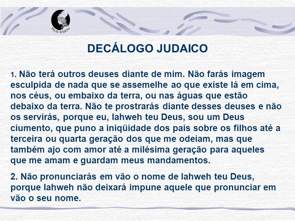 DECÁLOGO JUDAICO
