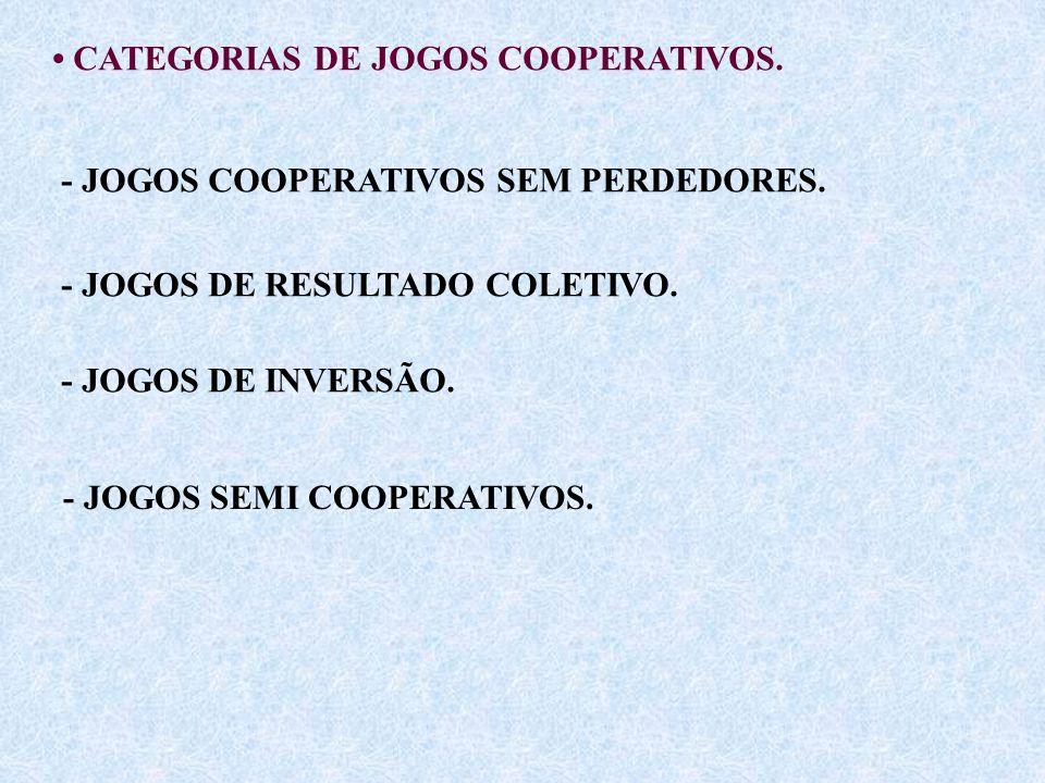 • CATEGORIAS DE JOGOS COOPERATIVOS.
