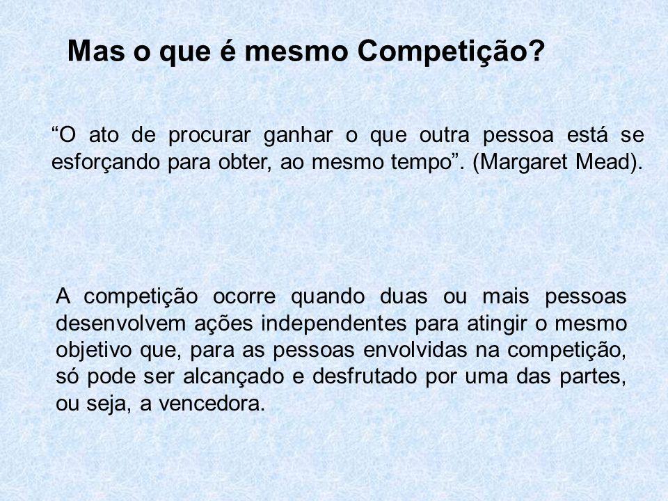 Mas o que é mesmo Competição