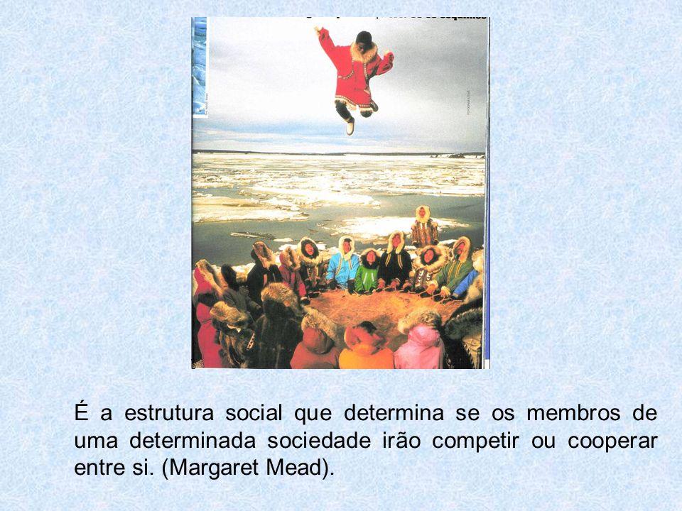 É a estrutura social que determina se os membros de uma determinada sociedade irão competir ou cooperar entre si.