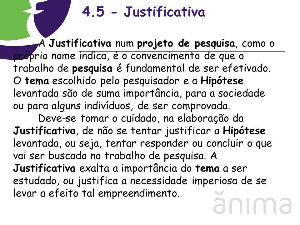 4.5 - Justificativa