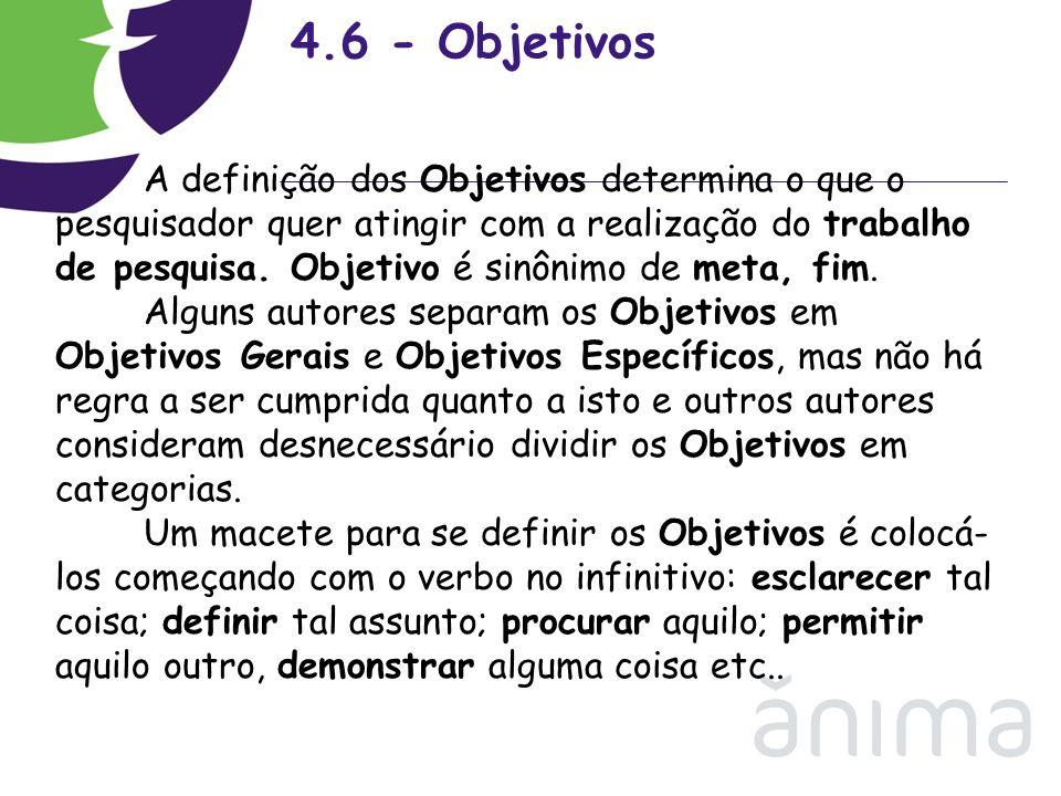 4.6 - Objetivos