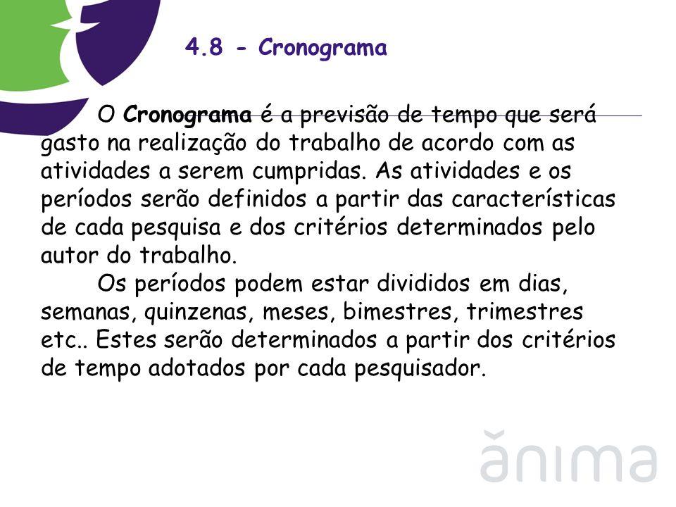 4.8 - Cronograma