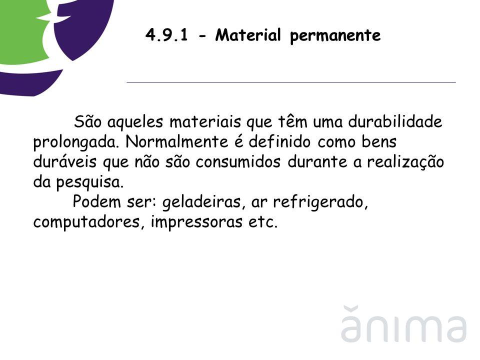 4.9.1 - Material permanente