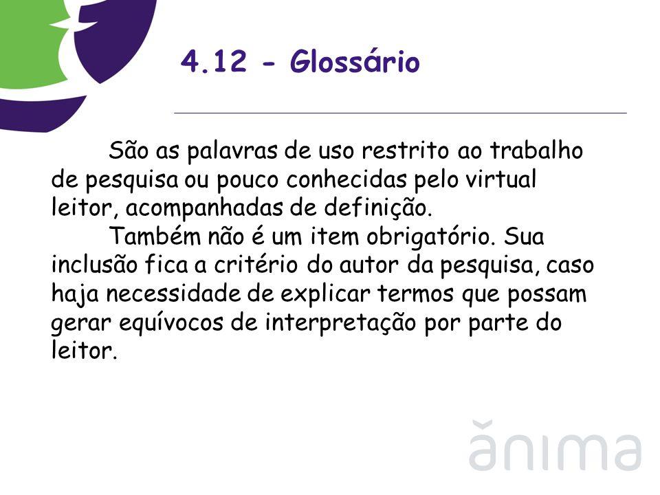 4.12 - Glossário