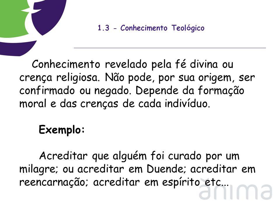 1.3 - Conhecimento Teológico