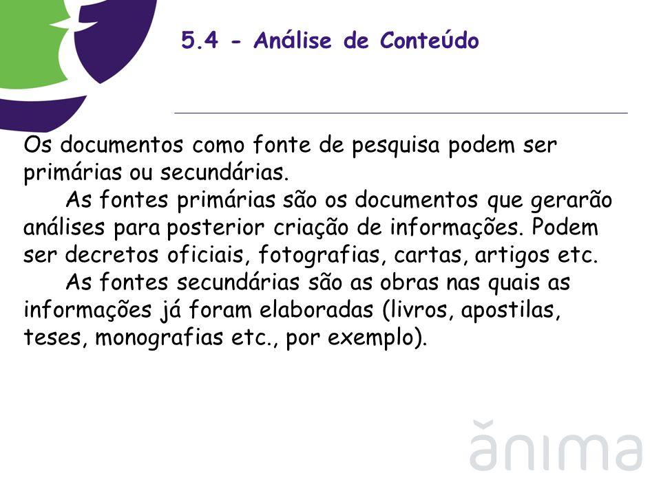 5.4 - Análise de Conteúdo