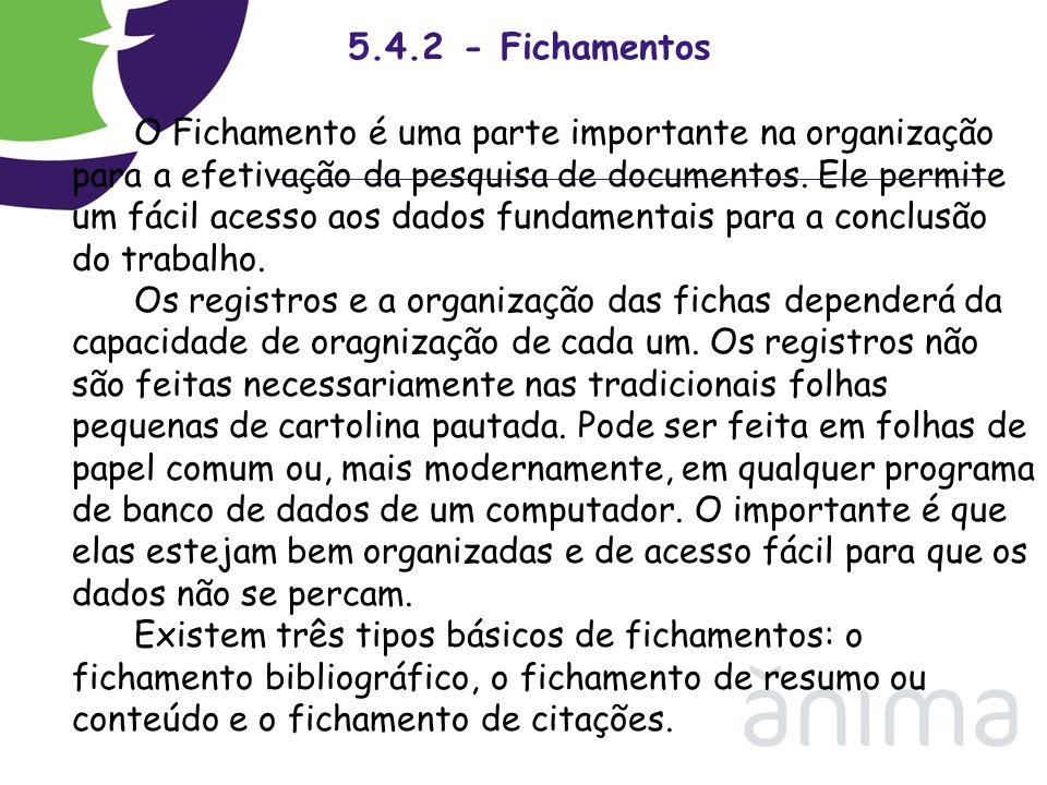 5.4.2 - Fichamentos