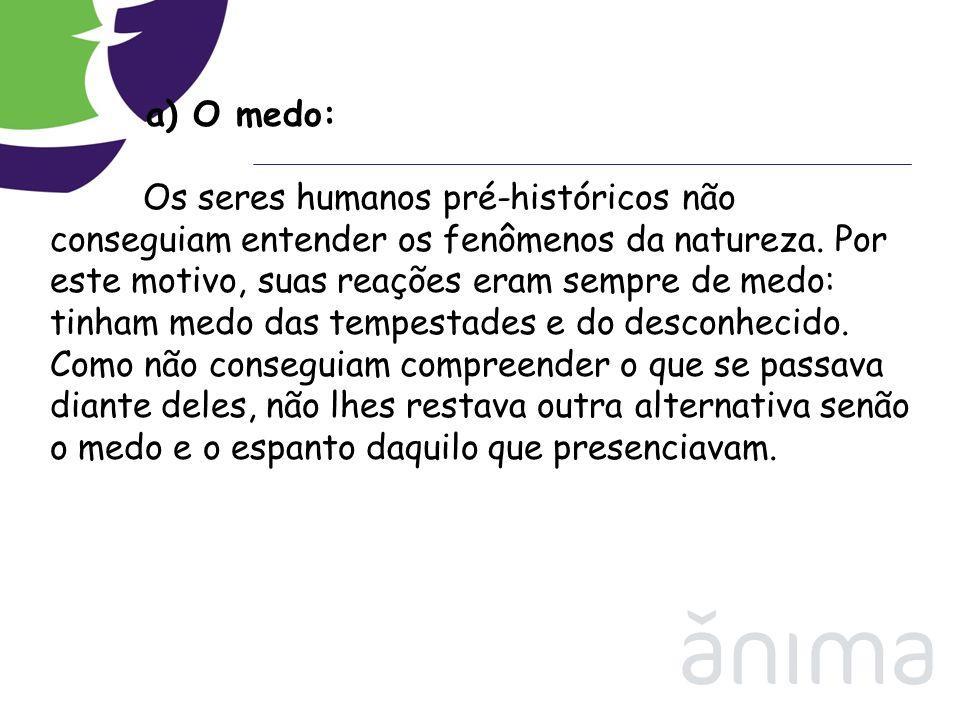 a) O medo: