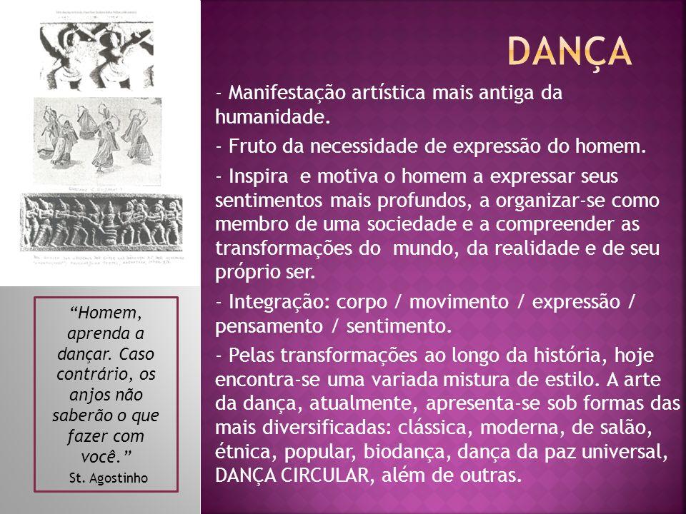 Dança - Manifestação artística mais antiga da humanidade.