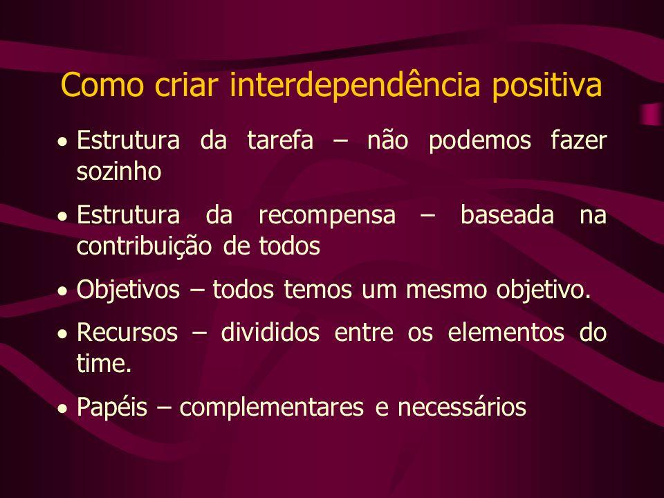Como criar interdependência positiva