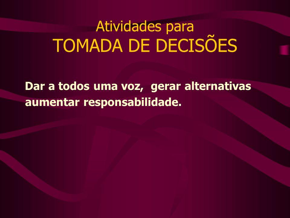 Atividades para TOMADA DE DECISÕES