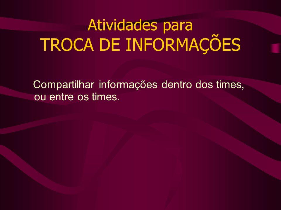 Atividades para TROCA DE INFORMAÇÕES