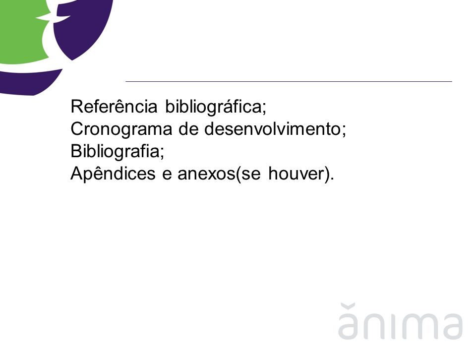 Referência bibliográfica;