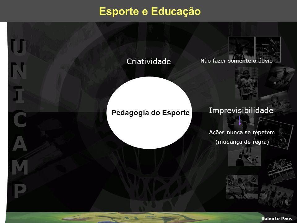 Criatividade Imprevisibilidade Pedagogia do Esporte