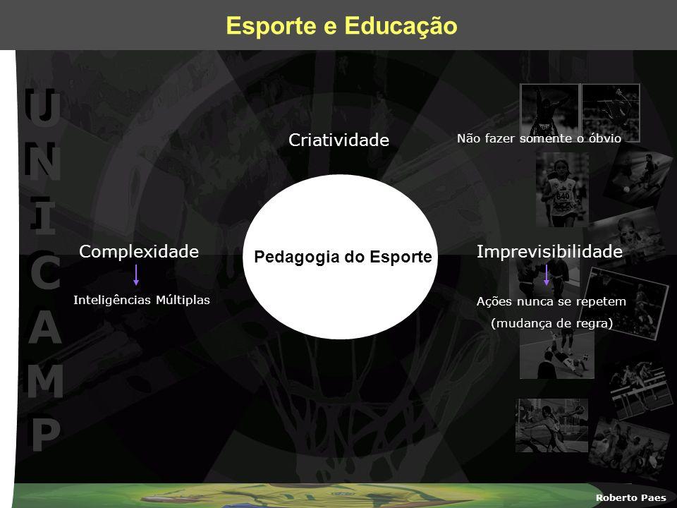 Criatividade Complexidade Imprevisibilidade Pedagogia do Esporte