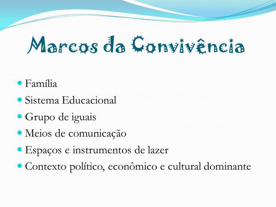 Marcos da Convivência Família Sistema Educacional Grupo de iguais