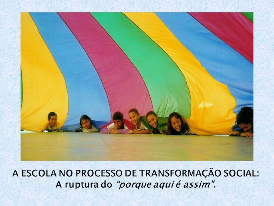 A ESCOLA NO PROCESSO DE TRANSFORMAÇÃO SOCIAL: