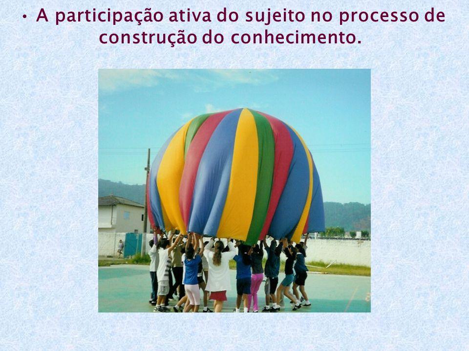 • A participação ativa do sujeito no processo de construção do conhecimento.