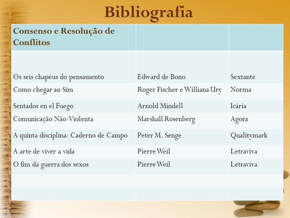 Bibliografia Consenso e Resolução de Conflitos