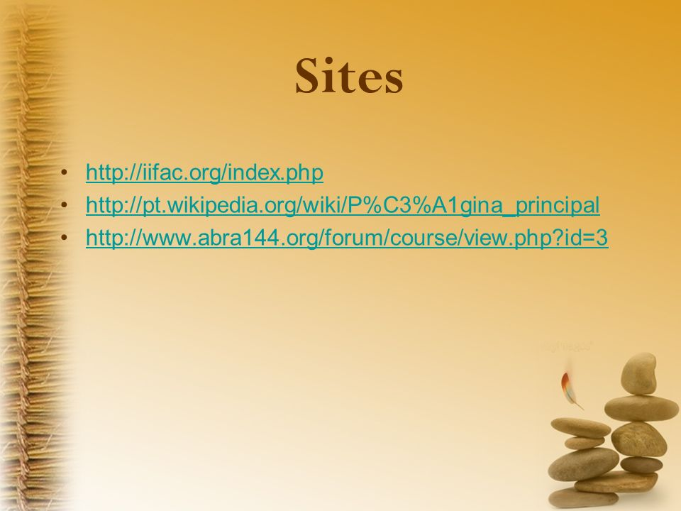 Sites http://iifac.org/index.php