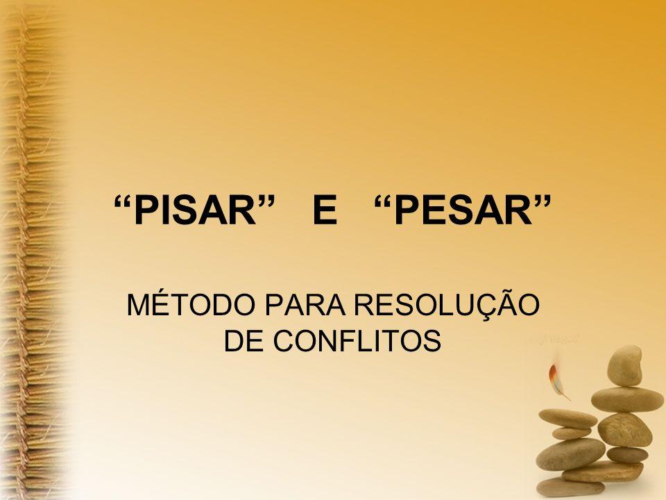 MÉTODO PARA RESOLUÇÃO DE CONFLITOS