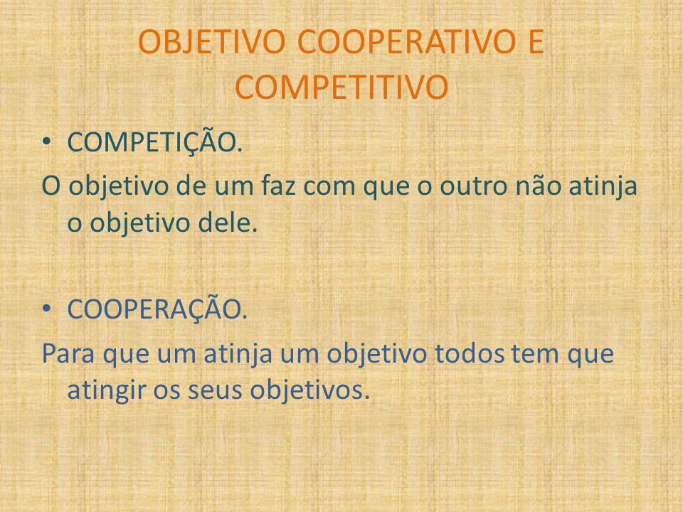 OBJETIVO COOPERATIVO E COMPETITIVO
