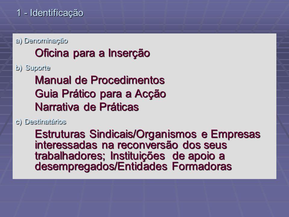 Oficina para a Inserção Manual de Procedimentos