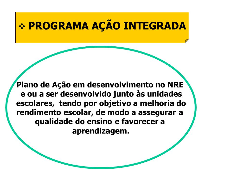 PROGRAMA AÇÃO INTEGRADA