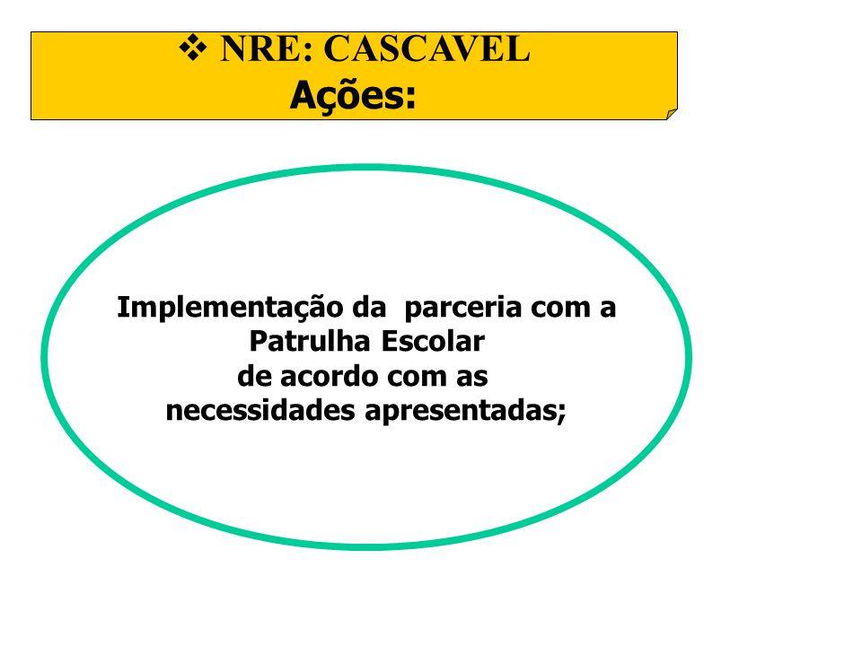 Implementação da parceria com a necessidades apresentadas;