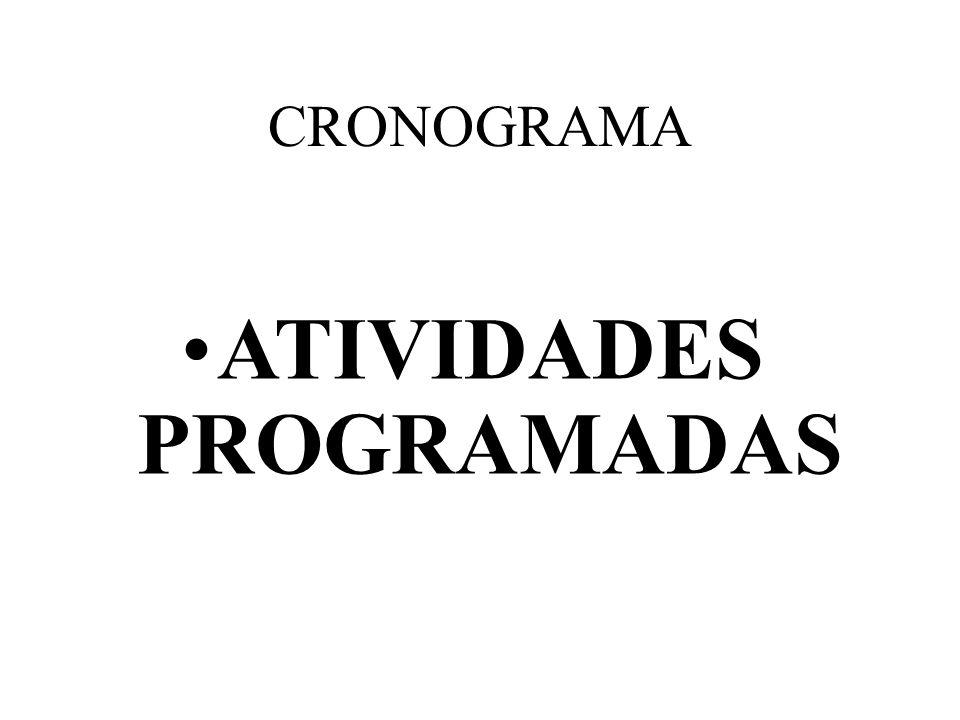ATIVIDADES PROGRAMADAS