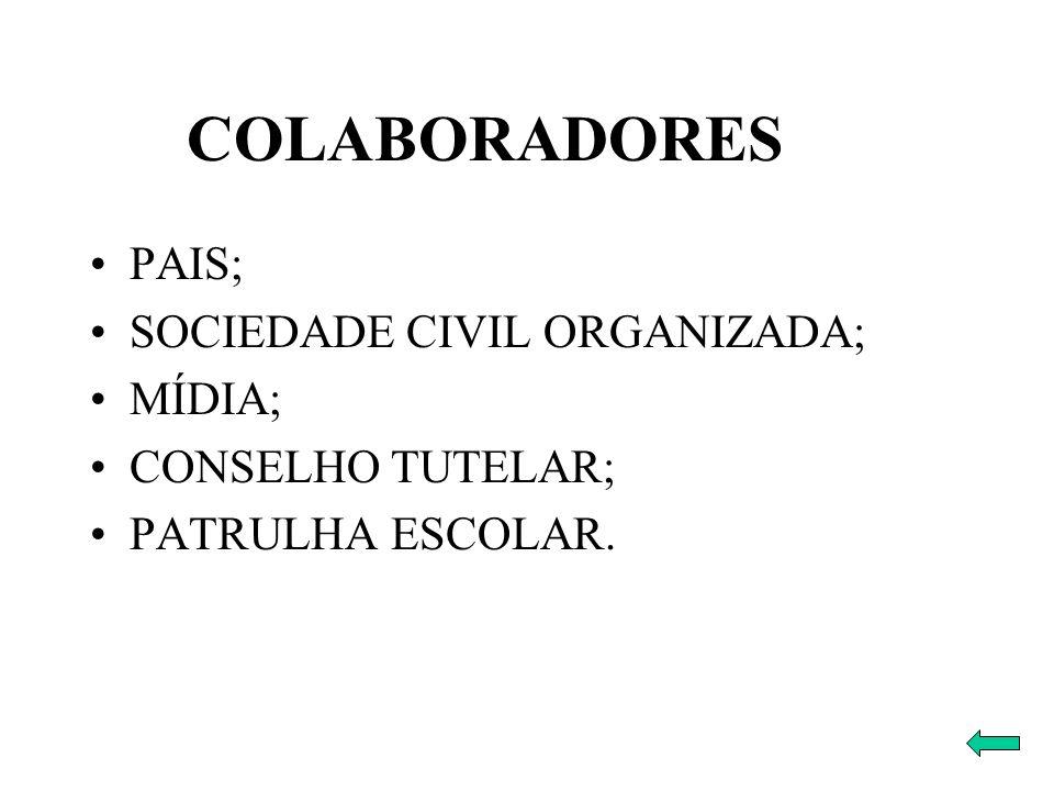 COLABORADORES PAIS; SOCIEDADE CIVIL ORGANIZADA; MÍDIA;