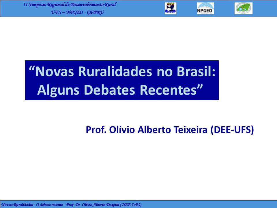 Novas Ruralidades no Brasil: Alguns Debates Recentes