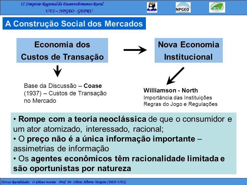 Economia dos Custos de Transação Nova Economia Institucional