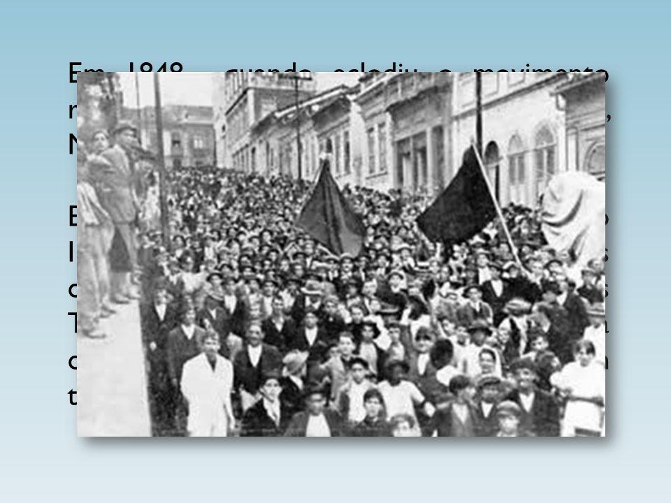 Em 1848 , quando eclodiu o movimento revolucionário em vários países europeus, Marx voltou para Alemanha.