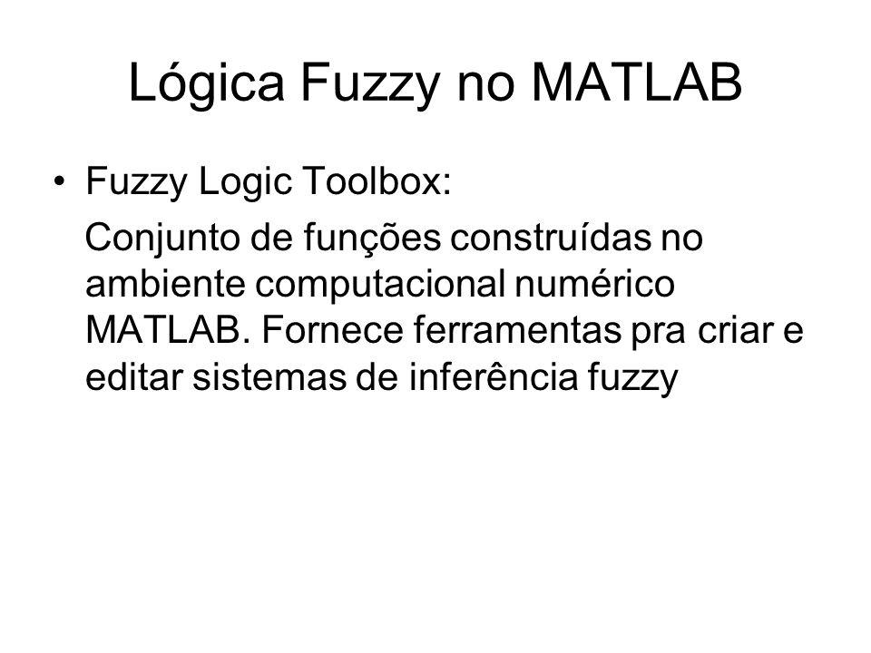 Lógica Fuzzy no MATLAB Fuzzy Logic Toolbox: