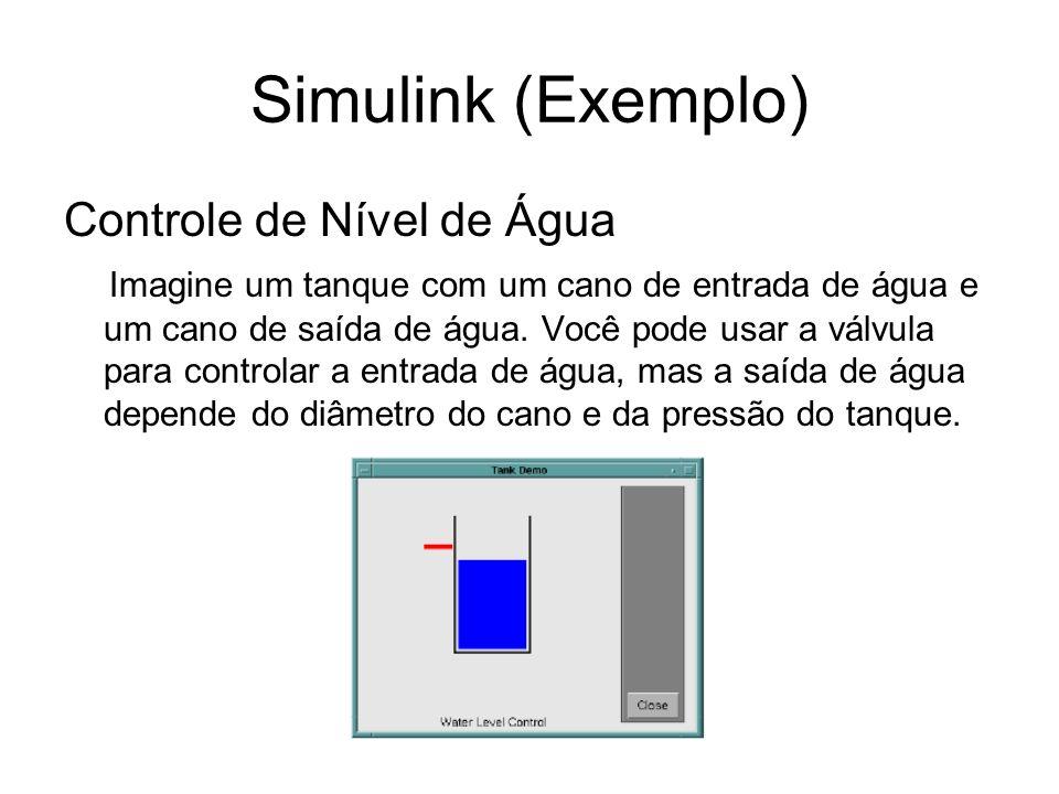 Simulink (Exemplo) Controle de Nível de Água
